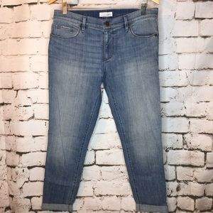Loft Relaxed Skinny Cuffed Jeans